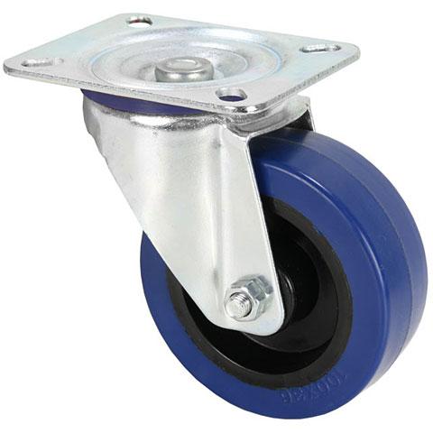 AAC 100mm Lenkrolle Gummi Blau