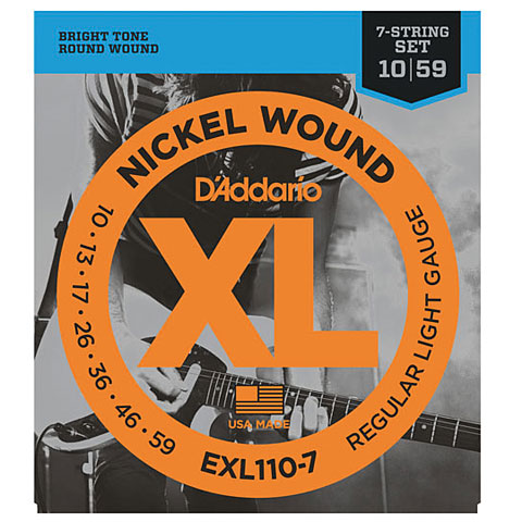D'Addario EXL110-7 Nickel Wound .010-059