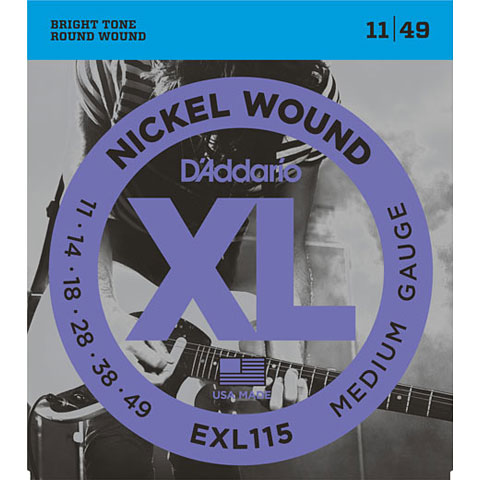 D'Addario EXL115 Nickel Wound .011-049