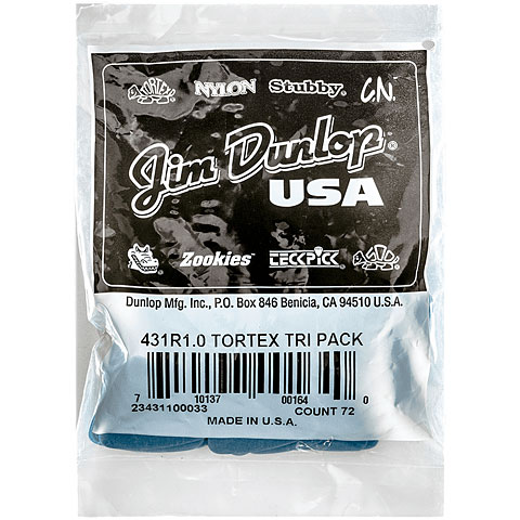 Dunlop Tortex Triangle 1,00mm (72Stck)