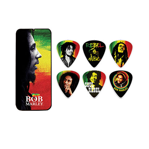 Dunlop Bob Marley Rasta Pick Tin