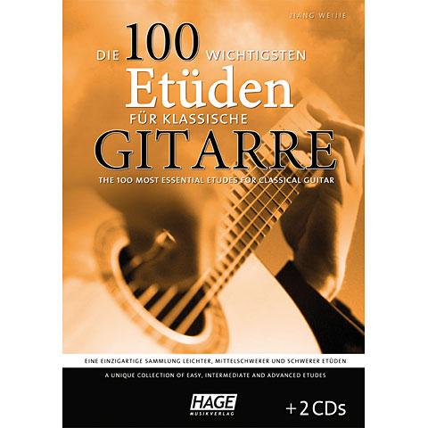 Hage Die 100 wichtigsten Etüden für klassische Gitarre
