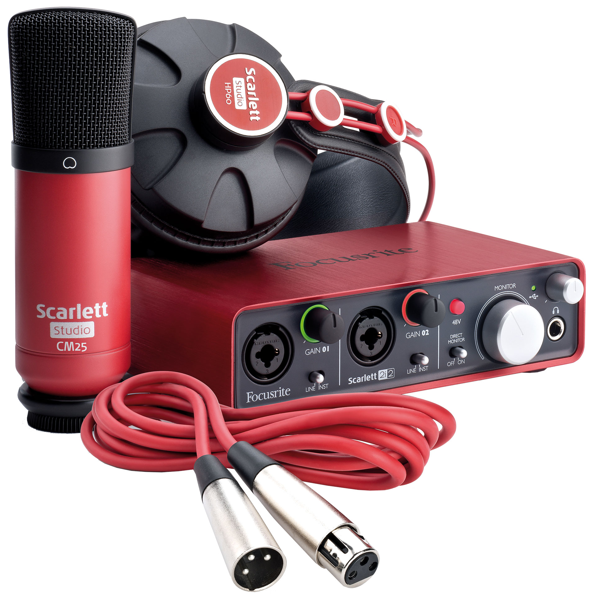 focusrite scarlett studio carte son interface audio. Black Bedroom Furniture Sets. Home Design Ideas