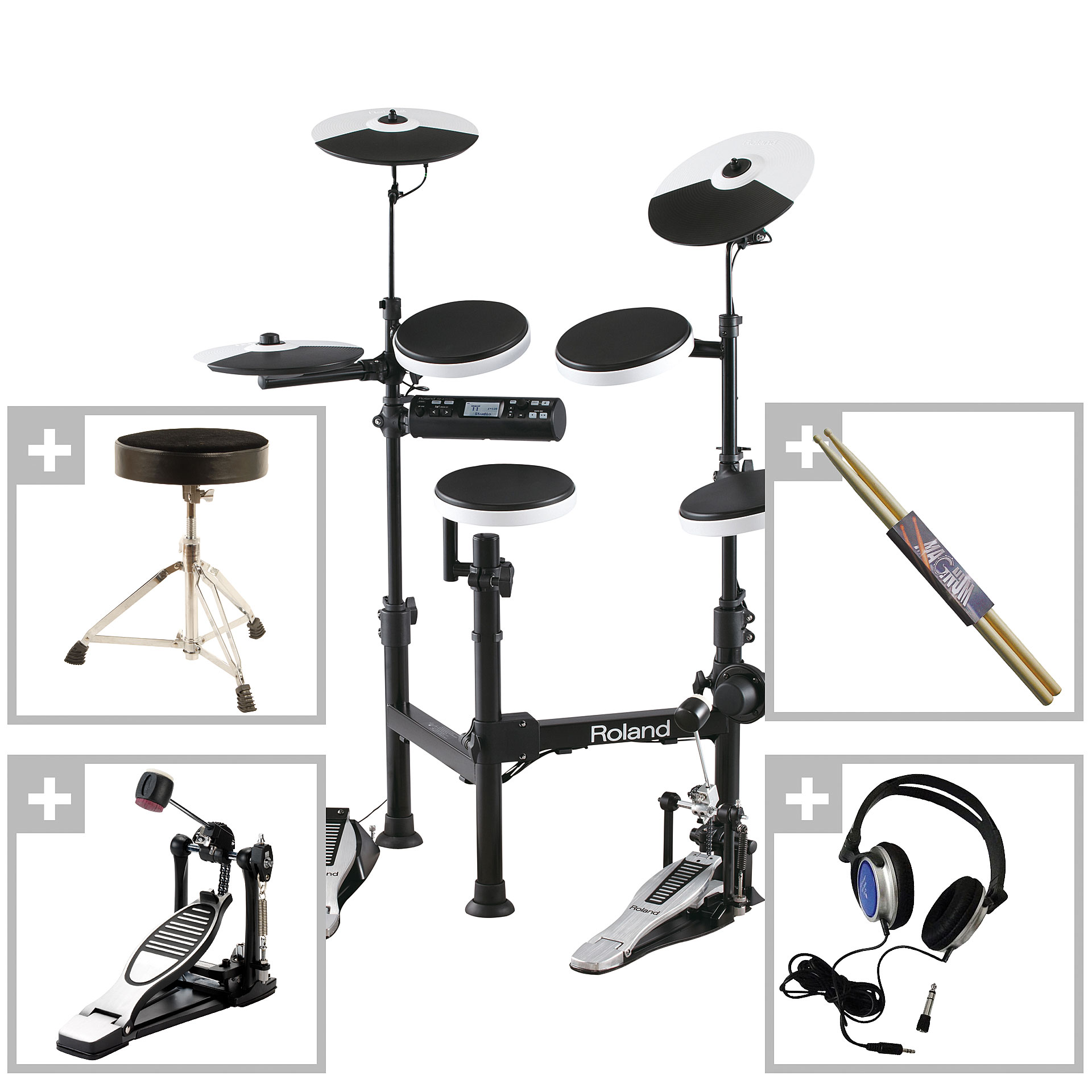 roland v drum td 4kp bundle batterie lectronique. Black Bedroom Furniture Sets. Home Design Ideas