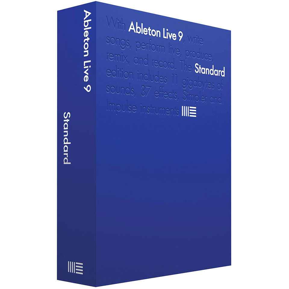 ableton live 9 standard d upg live lite s quenceur g n raliste. Black Bedroom Furniture Sets. Home Design Ideas