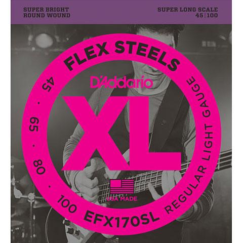 D'Addario EFX170SL Flex Steels .045-100
