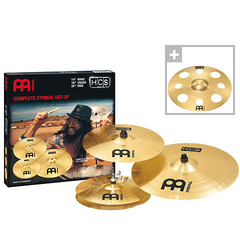 Meinl HCS Complete Cymbal Set-up (14HH/16CR/20R+16TRC)