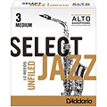 D'Addario Select Jazz Unfiled Alto Sax 3M « Anches
