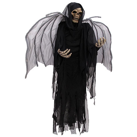 Europalms Halloween Figur Skelett mit Flügeln