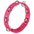 "Tambourin Nino 8"" Strawberry Pink ABS Compact Tambourine, Percussion, Batterie/Percussions"