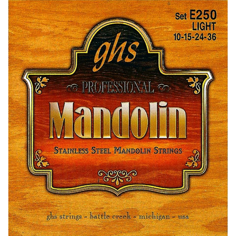 GHS E250 Stainless Steel Mandolin Strings