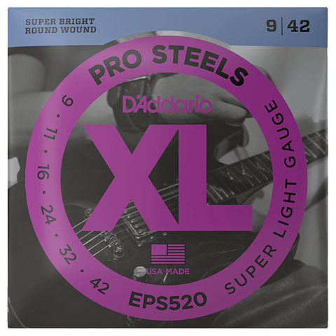 D'Addario EXLS520 Pro Steels .009-042