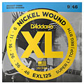 Corde guitare électrique D'Addario EXL125 Nickel Wound .009-046