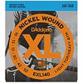 Corde guitare électrique D'Addario EXL140 Nickel Wound .010-052