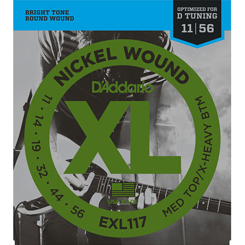 D'Addario EXL117 Nickel Wound .011-056
