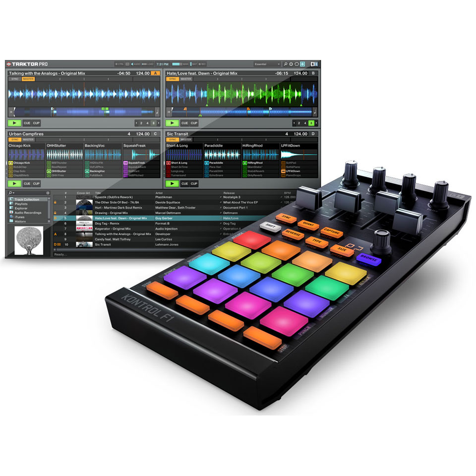 native instruments traktor kontrol f1 contr leur dj. Black Bedroom Furniture Sets. Home Design Ideas