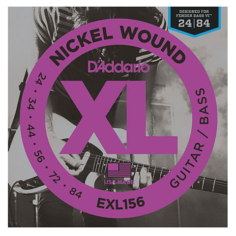 D'Addario EXL156 Nickel Wound .024-084