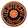 "Gretsch Drums 6"" Orange Round Badge Logo Practise Pad « Pad d'entraînement"
