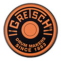 "Gretsch Drums 12"" Orange Round Badge Logo Practise Pad « Pad d'entraînement"