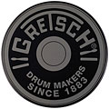 "Gretsch Drums 6"" Grey Round Badge Logo Practise Pad « Pad d'entraînement"