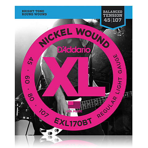 D'Addario EXL170BT Nickel Wound .045-107