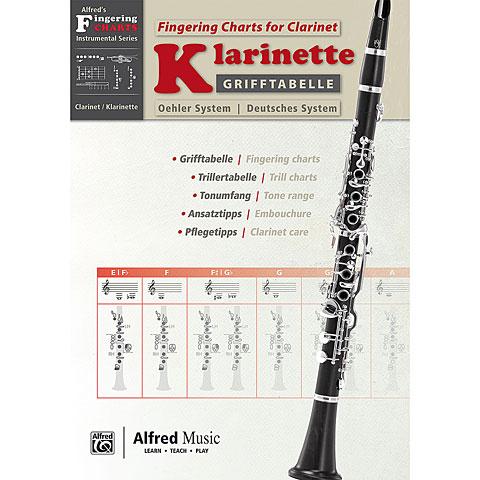 Alfred KDM Grifftabelle für Klarinette Oehler