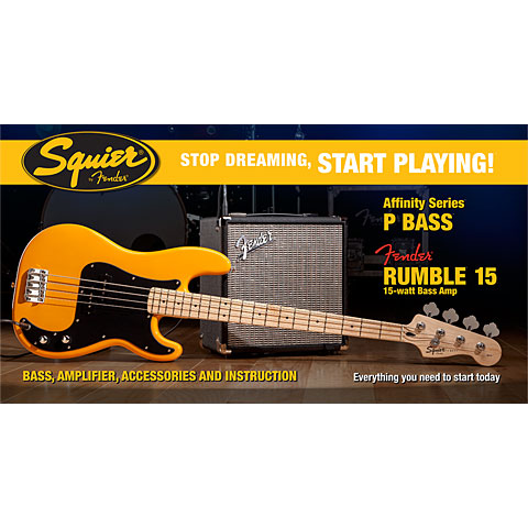 Squier Affinity P-Bass & Rumble 15, BTB