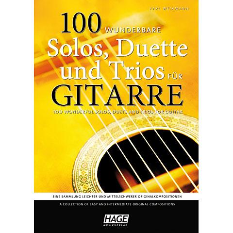 Hage 100 wunderbare Solos, Duette & Trios für Gitarre
