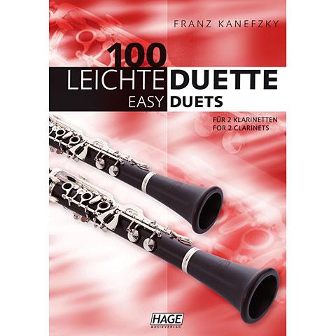 Hage 100 Leichte Duette für 2 Klarinetten
