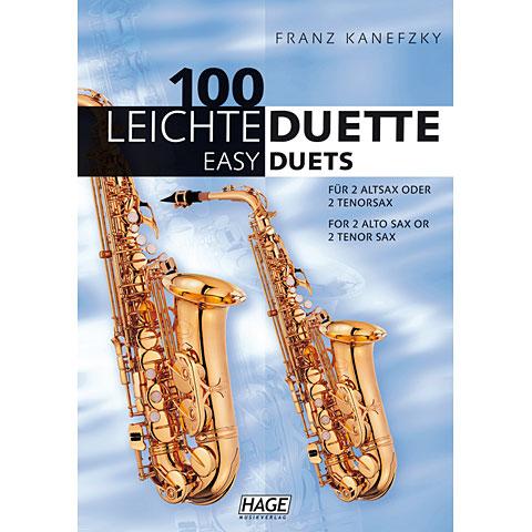 Hage 100 Leichte Duette für 2 Saxophone in Bb