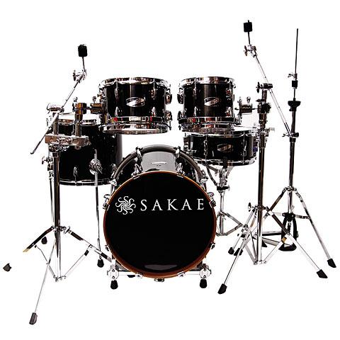 Sakae Pac-D Gloss Black Compact Plus Drumset