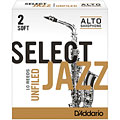 D'Addario Select Jazz Unfiled Alto Sax 2S « Anches
