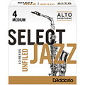 D'Addario Select Jazz Unfiled Alto Sax 4M « Anches