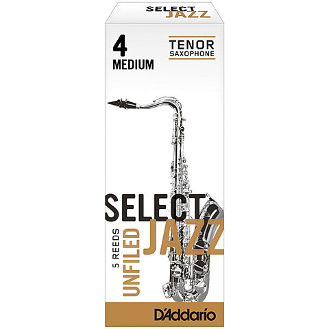 D'Addario Select Jazz Unfiled Tenor Sax 4M