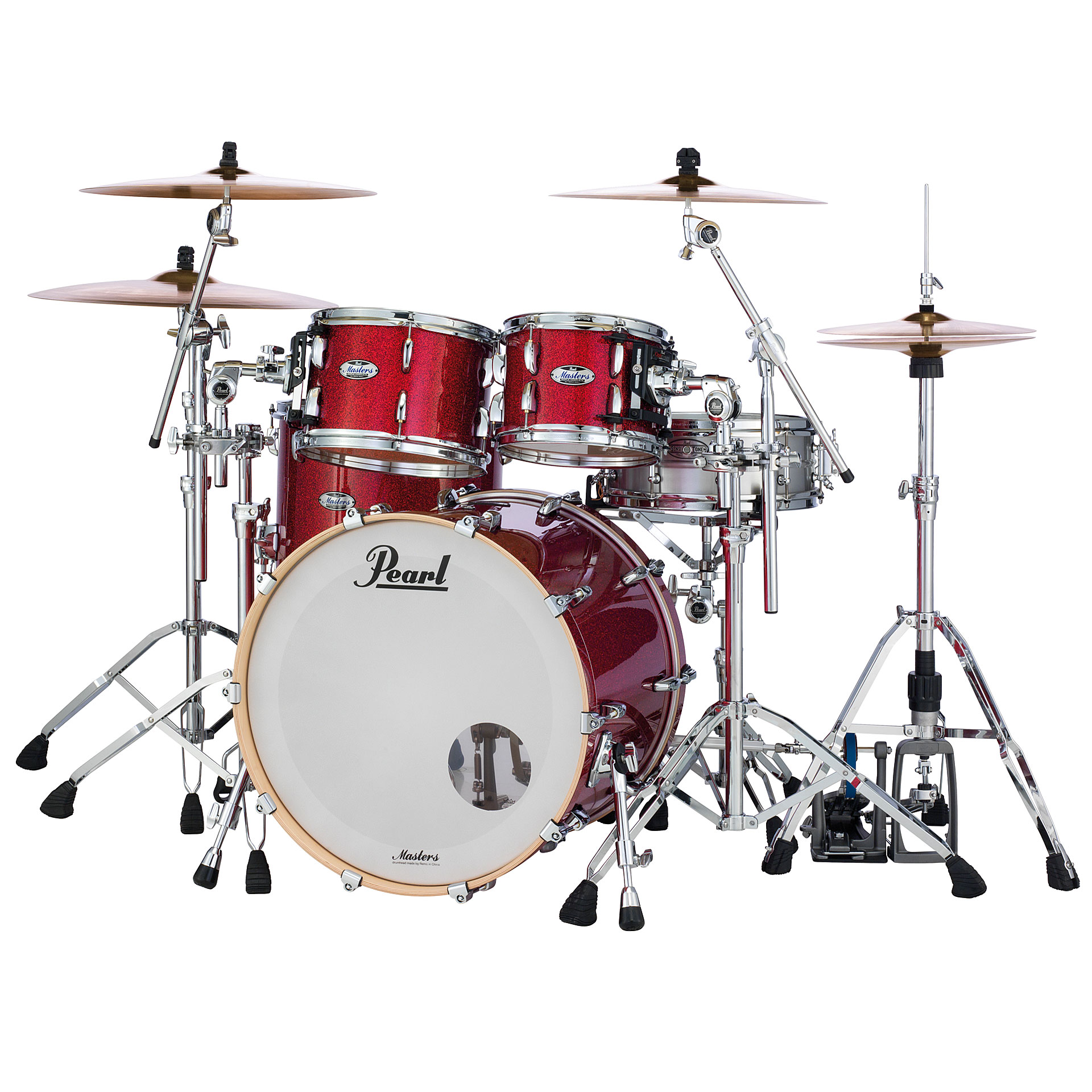 pearl masters maple complete 22 inferno red sparkle. Black Bedroom Furniture Sets. Home Design Ideas