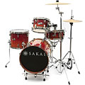 Sakae Pac-D Amber Fade Compact Drumset « Batterie acoustique