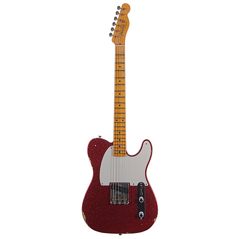 Fender Custom Shop 1955 Esquire Relic Faded Red Sparkle