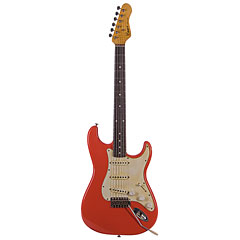 Haar Traditional S aged Fiesta Red « Guitare électrique