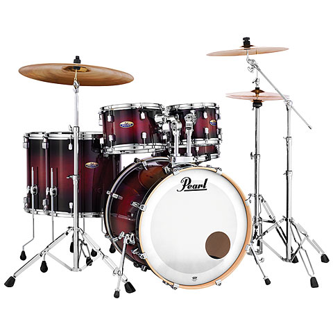 "Pearl Decade Maple 22"" Gloss Deep Red Burst Drumset"