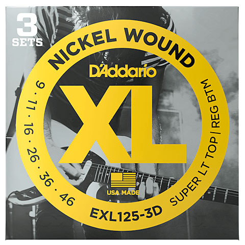 D'Addario EXL125-3D Nickel Wound .009-046