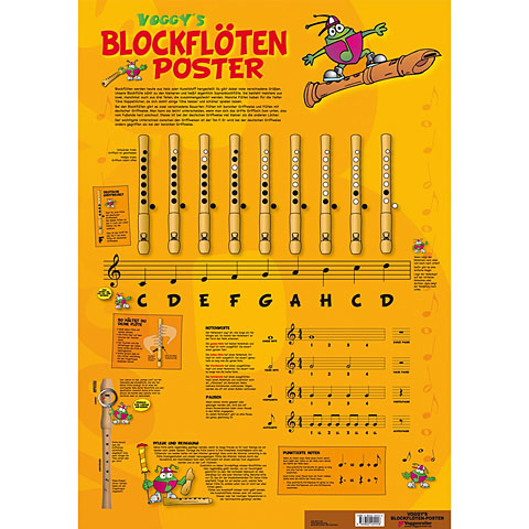 Voggenreiter Voggy's Blockflöten-Poster