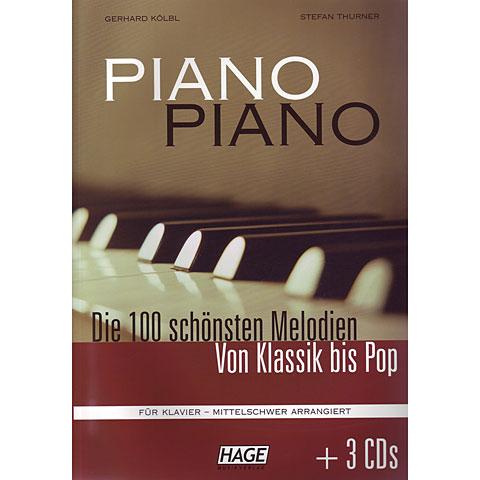 Hage Piano Piano (Mittelschwer) Die 100 schönsten Melodien